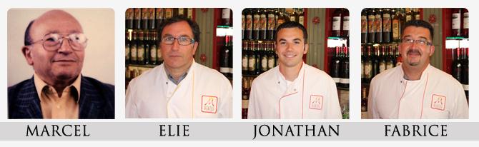 L equipe de la boucherie Marcel